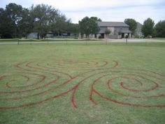 Shamrock Triple Spiral Labyrinth
