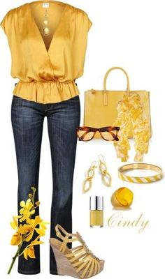 I like this top in what looks like a gold yellow. Fashion Moda, Diva Fashion, Look Fashion, Autumn Fashion, Fashion Outfits, Womens Fashion, Fashion Trends, Classy Outfits, Casual Outfits