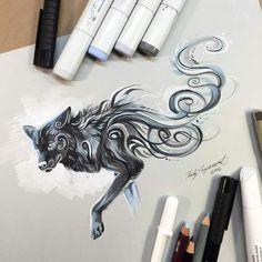 Pretty black wolfie!