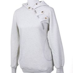 Be comforted during cold weather days with this long sleeve hoody coat. Features a turtleneck, two side pockets, hood, long sleeve and the unique stylish chest button and zipper. It is light weight, c