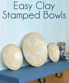 How to make clay stamped bowls