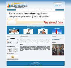 diseño y programación personalizada para la fundación NUEVA JERUSALEN, implementación de joomla