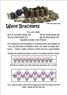 Wave Bracelet Tutorial