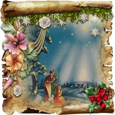 Nativity Scrolls 5 by David Cooke for a complete card or a topper fitting an or larger envelope. An old scroll has been unfurled to… Christmas Nativity, Christmas Clipart, Christmas Images, Christmas Angels, Vintage Christmas, Christmas Thoughts, All Things Christmas, Crystal Snowflakes, Special Images