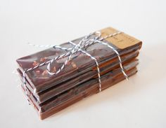 Set of 4 Organic and Fair Trade Chocolate Bars    These chocolate bars are made in small batches to ensure ultimate freshness and quality and come
