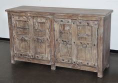 Indian sideboard cabinet with antique doors CH59024897