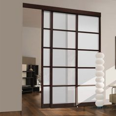shop unbranded espresso frosted glass sliding closet door at loweu0027s canada find our selection of - Closet Doors Sliding