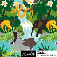 znokdesign+barnkläder, retro, unik, design, tyg, barntyg, Johanna Ahlard, Lotta Bruhn, elefanter, ugglor - znokdesign