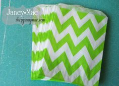 Items similar to Lime Green Chevron Party Favor Bag - 20 on Etsy Slice Of Lime, Green Chevron, Teen Birthday, Party Favor Bags, Bat Mitzvah, Baby Shower Gifts, Unique Jewelry, Handmade Gifts, Shower Ideas