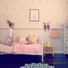 Lotte & Jemima #sharedroom #interiordesign #minted_interiors #happy #girl #polkadots