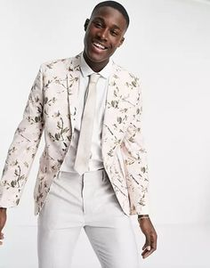 floral suit jacket - engagement outfits Engagement Dresses, Engagement Photo Outfits, Engagement Shoots, Stylish Suit, Real Couples, What To Wear, Suit Jacket, Photoshoot, Floral