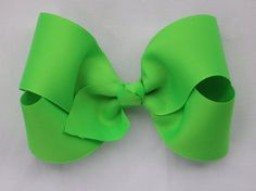 neon green grosgrain bow by YeauxYeauxBows on Etsy, $8.00