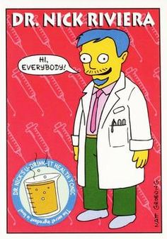 1993 SkyBox the Simpsons #S37 Dr. Nick Riviera Front