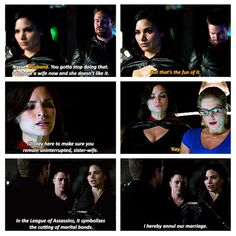 This was so funny to me Arrow Tv Shows, Dc Tv Shows, Supergirl 2015, Supergirl And Flash, Scandal Quotes, Glee Quotes, Scandal Abc, The Flash, Nyssa Al Ghul