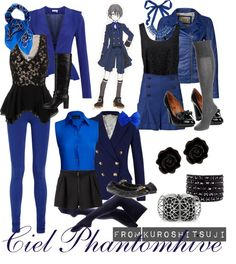 """[Kuroshitsuji] Ciel Phantomhive - Blue Outfit"" by chetmanly on Polyvore"