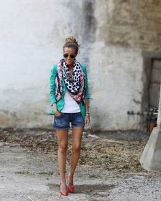 Blazer and Shorts