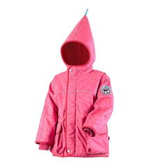 New Finkid Ski jacket winter parka - Zwergen TALVI FROST - magenta/chili