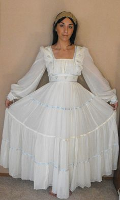 Oh My Gosh! This is my prom dress from 1976! Gunne Sax style
