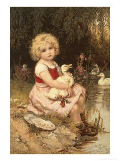 """Nursing a Poorly Duckling"" by Frederick Morgan"