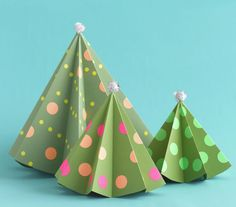 DIY Paper Trees - An easy holiday craft for your family.