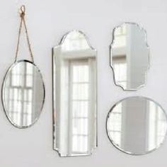 Shop eleanor frameless mirrors from Pottery Barn. Our furniture, home decor and accessories collections feature eleanor frameless mirrors in quality materials and classic styles. Mirror Collage, Mirror Gallery Wall, Round Mirrors, Wall Mirrors, Mirror Mirror, Bathroom Mirrors, Hanging Mirrors, Sunburst Mirror, Mirror House