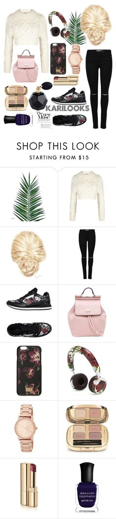 """""""Dolce & Gabbana"""" by karilooks ❤ liked on Polyvore featuring Nika, DKNY, Dolce&Gabbana, Deborah Lippmann and Diptyque"""