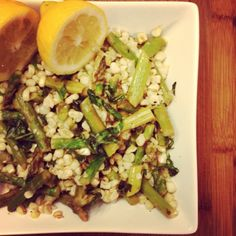 I Don't Go to the Gym: Asparagus & Fresh Corn Lemon Basil Summer Salad