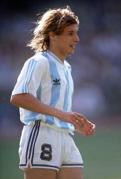 Italia 90. Before Bolt there was Claudio Caniggia; so fast, he could take the corner,run into the penalty area, and head the ball himself. A prolific striking partner for Maradona.