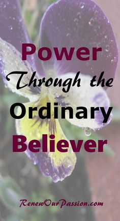 God can do extraordinary things through ordinary people. This power is available to every born-again believer. #power, #holyspirit, #believer, #christian, #spiritualgifts