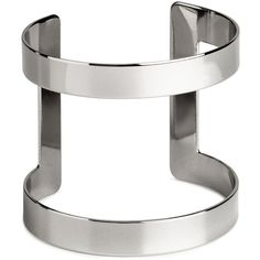 H&M Cuff bangle (8.45 AUD) ❤ liked on Polyvore featuring jewelry, bracelets, rings, accessories, silver, wide cuff bracelet, bracelet bangle, bracelet jewelry, cuff bangle bracelet and h&m