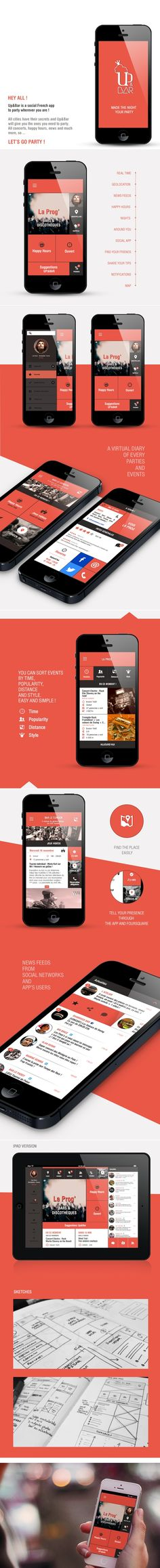 French design.. Yes we like! Up-Bar-App-Project #ui #ux #userinterface