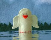 Yellow Duck Felt Finger Puppet