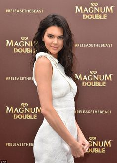 Star attraction: As she turned to the side she showed off her svelte shape