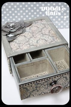 You'd never know this...       Used to be a Tim Holtz Small Configuration Box...   Mom (Mary) created this gorgeous box using Tim Holtz smal...