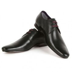 AUTHENTIC TED BAKER BLACK LEATHER OXFORD MEN SHOES SIZE 12