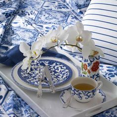 Blue and white Ralph Lauren dishes