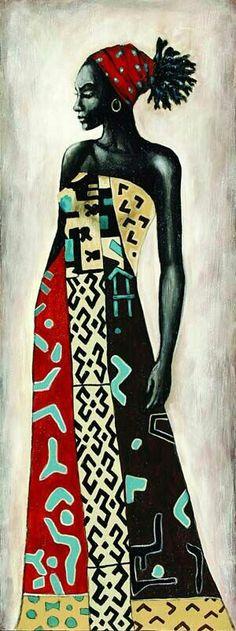 Hair art sculpture artworks Ideas for 2019 Black Art, Black Women Art, Afrique Art, African Paintings, African Abstract Art, Natural Hair Art, African Sculptures, African American Art, African Women