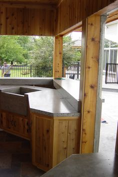 Cabinets outdoor and kitchens on pinterest for Cedar outdoor kitchen cabinets