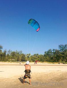 Kite surfing, Morjim Beach, Goa