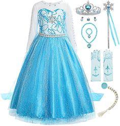 Costume Birthday Parties, Birthday Dresses, Best Fancy Dress Costumes, Costume Dress, Fancy Dress Queen, Snow Queen Costume, Cheap Dresses, Girls Dresses, Disney Princess Dress Up