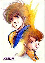 Rick Hunter & Lisa Hayes of Robotech: The Macross Saga Macross Anime, Robotech Macross, Old Anime, Manga Anime, Comic Book Drawing, Good Anime Series, Manga Artist, Manga Characters, Animation Series