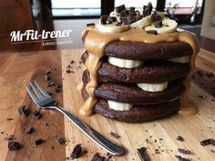 PROTEINOWE PANCAKES TRENERA Healthy Recepies, Nutella, Sausage, Pancakes, Health Fitness, Breakfast, Food, Gastronomia, Morning Coffee