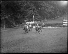 Horse racing ca. 1920