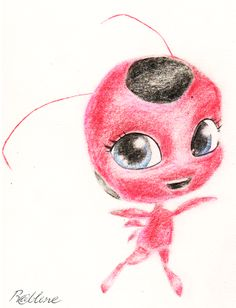 Miraculous Ladybug - Tikki. Love her she's so cute! Plagg is just greedy ;D