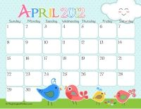 Free - Cute Monthly Calendar Printables from Anything But Perfect for-school
