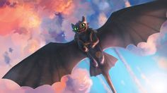 In Dragons We Trust by Little-Lion-Lady on DeviantArt < Toothless. :)