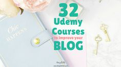 A list of over 32 Udemy blogging courses to help you to grow as a blogger. These courses target different aspects of your blogging efforts from Writing to Content Creation to SEO to Social Media Marketing to Photography and Videography.