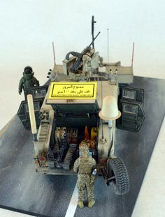 M1114 Humvee with Mine Rollers 1/35 Scale Model diorama