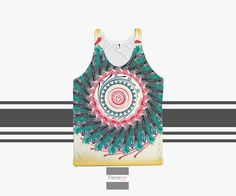 Colorful Boho Feather Bohemian Tank Top mandala pattern for Men and Women. Unisex  #gift #tumblr #offers #fashion #cute
