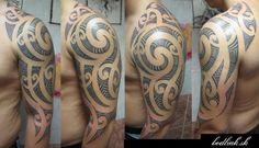 Maori Shoulder Tribal Tattoo by Bodliak Tattoo